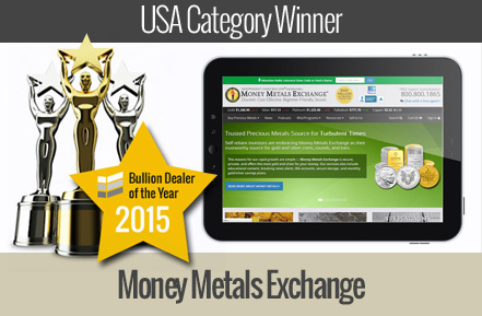 money metals exchange - winner USA bullion dealer of the year