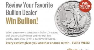 Review Rewards Prize Draw - 1oz Silver to be Won Every Week!